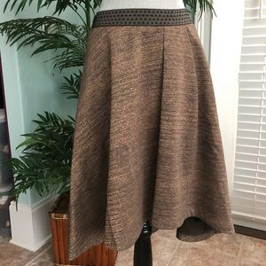 Anthropologie HD In Paris Copper Hi Lo Skirt